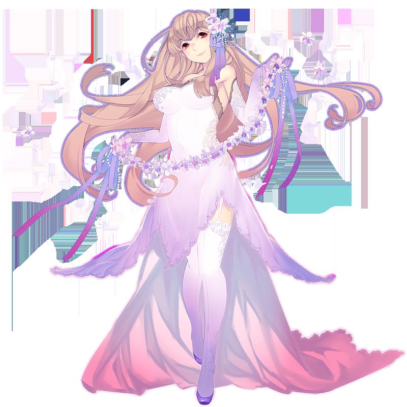 全身イラスト:花のドレス|イラスト詳細|らっかみ!