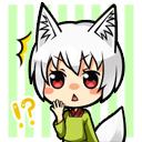 白 白狐びっくりアイコン 狩衣風味 イラスト詳細 らっかみ