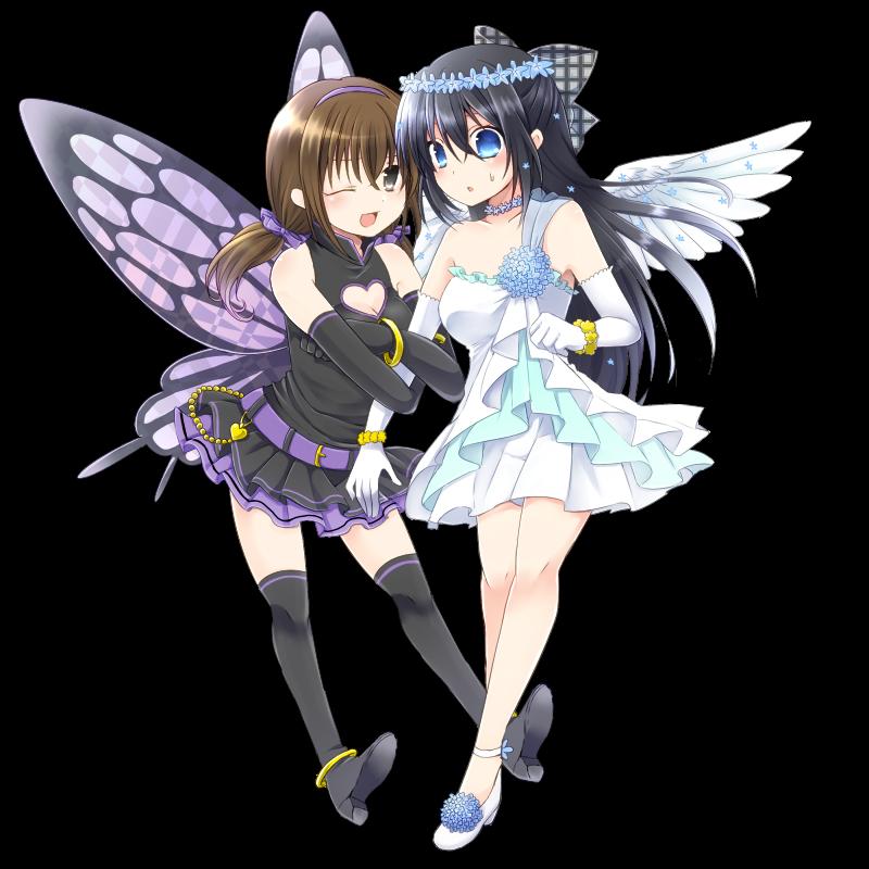 天使悪魔誘惑の小悪魔と戸惑う天使の行方イラスト詳細らっかみ